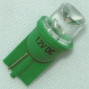 T8插入式 車用 凹頭LED綠 (2入)