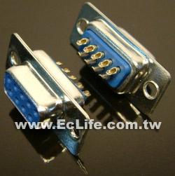 9 PIN D型焊線 母接頭 (2入)
