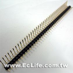 2.54mm 40X1 PIN 排針短90° (2入)