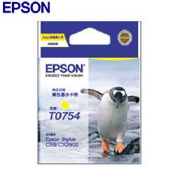 EPSON原廠墨水匣T0754黃