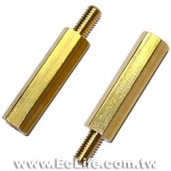 六角細牙銅柱 20mm (8入)