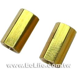 六角雙母細牙銅柱 10mm (8入)