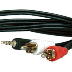 影音線3.5mm立體聲-2RCA公線 10M(裸裝)