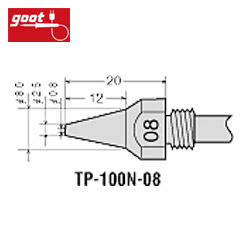 goot日本 φ0.8mm吸錫頭 TP-100N-08