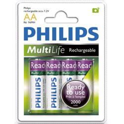 PHILIPS 3號低自放2000mAh充電電池4入