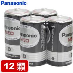 【套餐組】國際牌環保碳鋅1號電池(2顆裝 x 6組