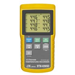 Lutron BTM-4208SD 12點記憶溫度計