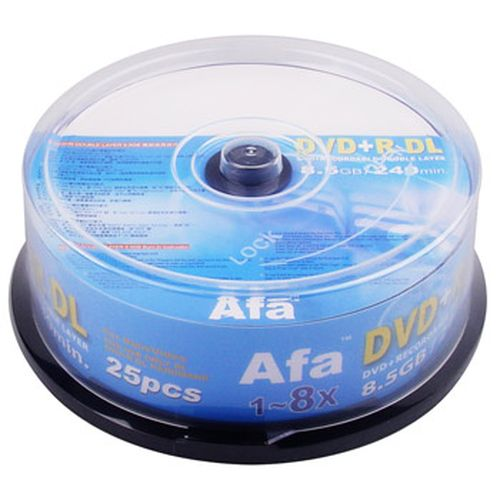 Afa 8X DVD+R DL燒錄片  25入布丁筒