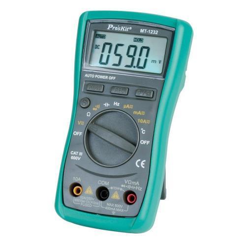 【網購獨享優惠】Pro'sKit 寶工 MT-1232 3 3/4自動數位錶,附頻率.電容測試