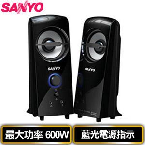 SANYO三洋 2.0聲道多媒體電腦喇叭 雷之音