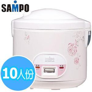 【SAMPO聲寶】10人份機械式厚釜自動保溫電子鍋KS-AF10