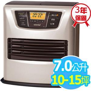 ◤日本製◢TOYOTOMI 【7公升】煤油電暖爐_10-15坪適用 (LC-L43C-TW)-銀色
