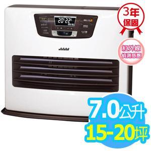 ◤日本製◢TOYOTOMI【7公升】煤油電暖爐_15-20坪適用 (LC-SL53C-TW)-白色