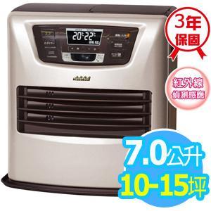 ◤日本製◢TOYOTOMI【7公升】 煤油電暖爐_10-15坪適用 (LC-SL43C-TW)-銀色