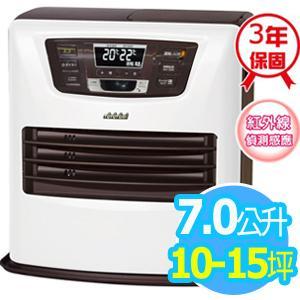 ◤日本製◢TOYOTOMI【7公升】煤油電暖爐_10-15坪適用 (LC-SL43C-TW)-白色