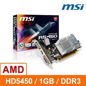 微星 R5450-MD1GD3H/LP 1G DDR3 64bit PCI-E 3D圖形加速卡