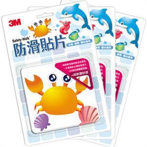 3M 防滑貼片-海洋(四片裝) 3入共12片