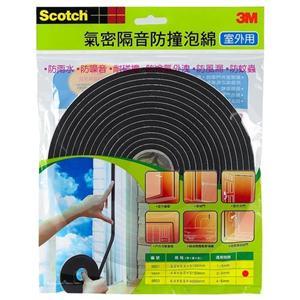 3M氣密隔音防撞泡棉超值4件組(多種尺寸)
