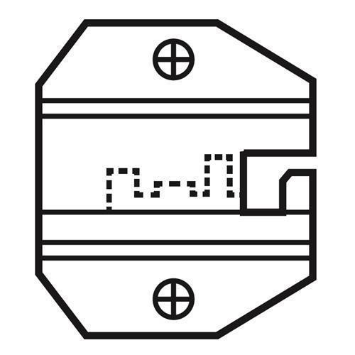 Pro's Kit 網路口模8P/RJ45卡鍵型(不含AMP) 1PK-3003D11