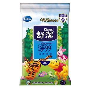 【量販組】 舒潔迪士尼淨99抗菌濕巾10抽 (4包x15組)