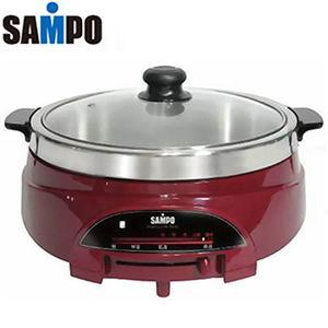 ★台灣製★SAMPO聲寶【5L】不鏽鋼多功能料理鍋 (TQ-G9052SL)