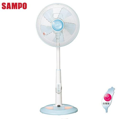 【SAMPO聲寶】12吋微電腦夜燈型可定時遙控桌立扇SK-FQ12R