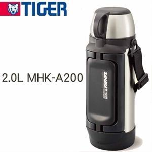 ★大容量款★TIGER虎牌【2.0L】不鏽鋼保溫保冷瓶(MHK-A200)
