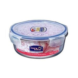 Lock & Lock 樂扣樂扣 耐熱玻璃圓形兩用保鮮盒2入(760ml)-藍色半透明
