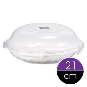 Lock & Lock 樂扣樂扣 典雅瓷器微波保鮮盒-圓頂形白色 21cm