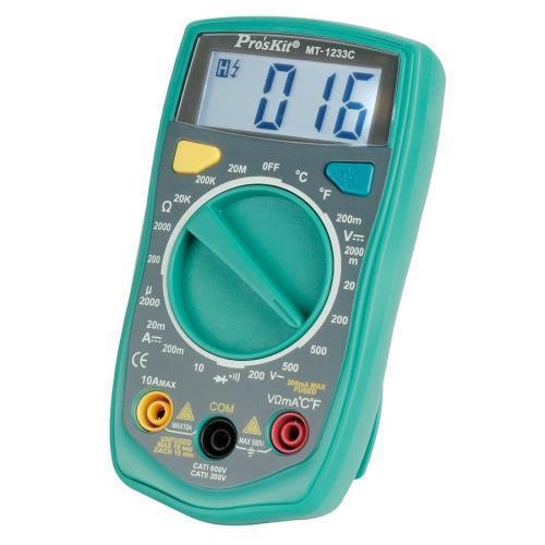 Pro'sKit寶工 MT-1233C  3 1/2數位電錶 帶溫度測試