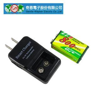 GN奇恩 GN9VCL11 9V 鋰充電池充電器組