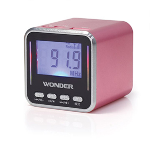Wonder旺德 WS-P002 USB/MP3/FM 隨身喇叭 粉紅
