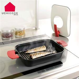 第二代日本製【逸品軒】UCHICOOK水蒸氣式健康蒸煮燒烤盤/金屬蓋