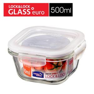 樂扣樂扣玻璃微烤兩用保鮮盒-白條方型500ML(LLG214)-兩件組