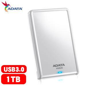【網購獨享優惠】ADATA威剛 HV620  2.5吋 1T USB3.0 行動硬碟(白)