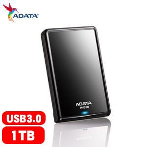 【網購獨享優惠】ADATA威剛 HV620 2.5吋 1T USB3.0 行動硬碟(黑)
