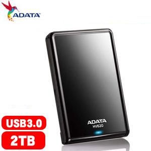 【網購獨享優惠】ADATA威剛 HV620 2.5吋 2T USB3.0 行動硬碟(黑)
