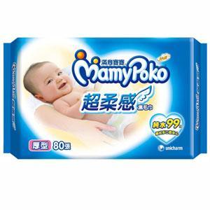 【箱購】滿意寶寶濕巾厚型補充包80p*12包/箱