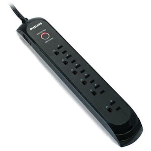 Philips 3孔單切6座防突波1440焦耳 1.8M (黑色)