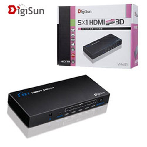 DigiSun 3D HDMI 五進一出影音切換器 VH651