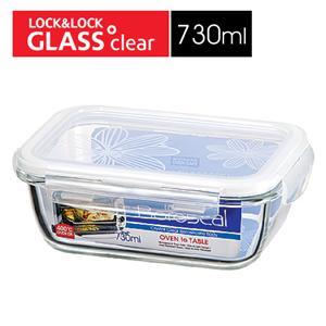 樂扣樂扣第三代玻璃保鮮盒730ML緹花上蓋-長方形