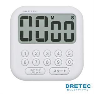 【日本DRETEC】香香皂大螢幕數字鍵計時器-白色