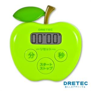 【日本DRETEC】蘋果計時器-綠色