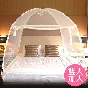 【威克爾】三門蒙古包式蚊帳-雙人加大