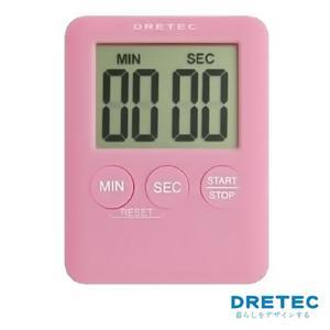 【日本DRETEC】Pocket 口袋型迷你計時器-粉色