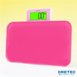 【日本DRETEC】輕巧電子體重計-粉色