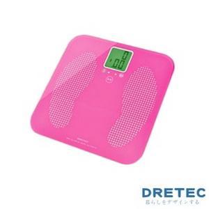 【日本DRETEC】日本DACCO兒童&寵物電子體重計-粉色