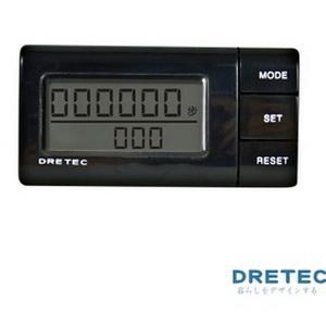 【日本DRETEC】流線型雙螢幕隨身計步器-黑色