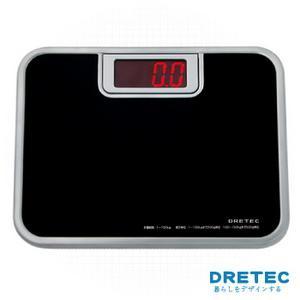 【日本DRETEC】大螢幕紅光LED體重計-黑色