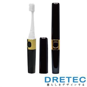 【日本DRETEC】Sonic Bar音波電動牙刷(波浪刷頭)-音波黑